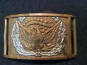 Original Civil War Belt Plate With Applied Wreath And Keeper