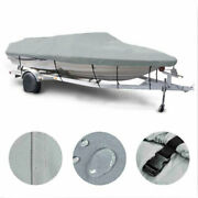600d Uv Protection 16-22 Ft Boat Cover Waterproof V-hull 95and039and039 Beam Fishing Base