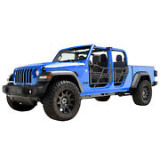 Off Road Safari Tubular Door With Side View Mirror Fit 20-21 Jeep Gladiator Jt