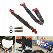 2pcs Motorcycle Dirt Bike Front+rear Seat Rescue Pull Strap Sling Belt Tow Rope