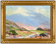 Joane Cromwell Original Painting On Canvas Signed Western Landscape Plein Air
