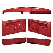 For Ford F-150 1980-1986 Coverlay 12-108cl-rd Red Interior Combo Kit Power Locks