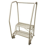 Cotterman 2ts26a3e10b8p6 50 In H Stainless Steel Tilt And Roll Ladder 2 Steps