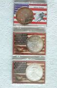 American Eagle Uncirculated .999 Silver Dollars 1 Oz. 1987, 2003 And 2004