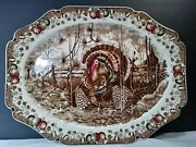 Giant 20 His Majesty Turkey Platter Johnson Brothers Made In Englandfree Ship