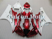 Pearl Red White Injection Plastic Fairing Fit For Yzf R6 2006-2007 Body Kit Adx