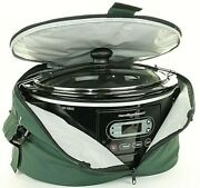 Hamilton Beach Stay Or Go 5qt Programmable Slow Cooker 33957 Black With Carrier