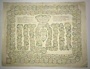 Moithey M.a. 1730 Antique Game Board With The History And Kings Of France Rare