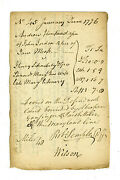James Wilson Declaration Of Independence Signer Autograph Document - 1776 Date