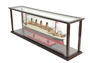 Made To Order Rms Titanic Wooden Model Museum Quality Replica With Display Case