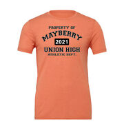 Andy Taylor Barney Fife Mayberry Union Athletic Dept. High School Cotton T-shirt