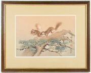 Cheng Khee Chee Squirrels Watercolor Framed