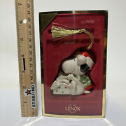 Lenox Peanuts Surprise For Snoopy Christmas Xmas Gift Ornament 3rd In Series ⭐️