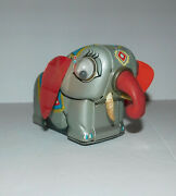 Vintage Friction Tin Toy Elephant Made In Japan