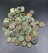 Coins Old Ancient Antique Rare Bronze Indo Greco Greek Kushan Coins Lot Top Rare