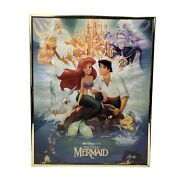 1989 Disney Banned Movie Theater Poster The Little Mermaid In Original Frame