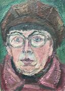 Hugo Knobloch 1928 Rostock Portrait Woman With Glasses And Cap Hat 470 X 335