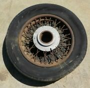 """Antique 19"""" Rolls Royce Or Bentley Wire Wheel W/ Ace Cover, 1927-1936 Vintage"""