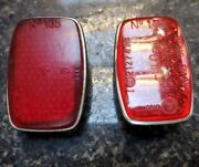 Mercedes 190sl Reflector Set Ulo 135 And K 11246 W121 300sl Roadster W198 Pair