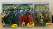 3 Mcfarlane Toys Spawn Action Figures Special Edition Green Spawn Medieval Spawn
