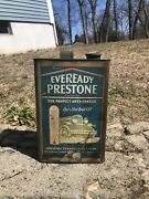 Vintage Eveready Prestone Anti-freeze Soldered 1 Gallon Can Gas Oil