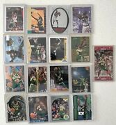 Nba Shawn Kemp Seattle Supersonics Reign Man Lot Of 17 Cards Rookie + Inserts