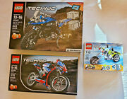 3 Lego Technic / 42063 / 42036 / 31018 / Open Kept Ina Showcase All Parts There