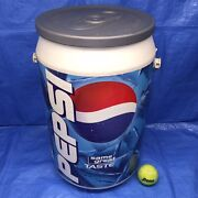 21 X 12 Vintage Pepsi Can Cooler With Handle Sports Camping Plastic Blue White