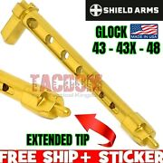 Shield Arms For Glock 9mm Striker Stainless Tin Gold Extended Tip 43 43x 48 Skel