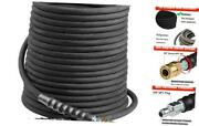 Cold/hot Water 3/8 X 50ft Pressure Washer Hose Industry Grade Durable