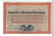 1888 Newport News And Mississippi Valley Company Railroad Bond Stock Certificate