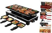 Raclette Grill Electric Grill Table, Portable 2 In 1 Korean Bbq Grill Indoor
