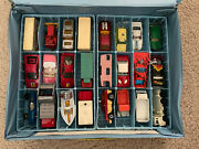 Lot Of 24 Vintage 1960s1970s Lesney Matchbox Cars With 1978 Case