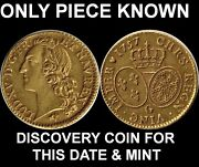1757-g France Gold Coin Louis Dand039or-only One Known-seul Example Connu-rrrr-read
