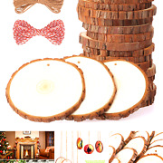 Fuyit Natural Wood Slices 20 Pcs 3.5-4 Inches Craft Wood Kit Unfinished Predr...