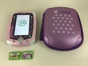 Leap Frog Leappad 2 Disney Princess Case Learning Video Game System Lot W Games