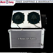 3 Row Radiator And Shroud And 2 X 12 Fans Fit 73 74 75 76 Chevy Corvette 5.7 7.4 V8