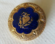 18 Kt. Gold And Enamel Victorian French Broach/ Pendant 4.2 Gr.