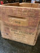 Peters Small Arms Ammunition High Velocity Ammo Box | Antique Wooden | Red P