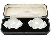Antique Art Deco Pair Of Sterling Silver Bon Bon Dishes By R E Stone