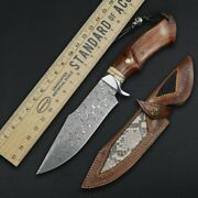 American Damascus Knife Fixed Blade Premium Quality Hunting Survival Camp Knives