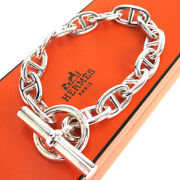 Auth Hermes Chaine Dand039ancre Silver 925 Bracelet Silver 50gc505