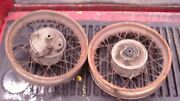 Vintage 1962 Puch Sears Allstate Scooter Moped Mini Bike Wheels Front Rear 12
