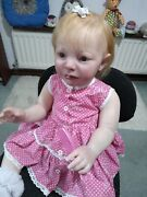 Reborn Toddler Doll Girl Baby 30 Inch Emmy Realborn Wears 18 -24 Mt Clothes Coa