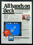1983 Optimum Resource Old Ironsides Video Game For Apple Ii Computer Magazine Ad