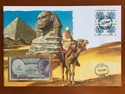 Amazing First Day Envelope With Typical Figures Stamps And Note Egypt 1994