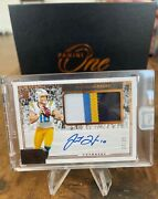 Justin Herbert 32/35 Rpa 2020 Panini One 3 Rookie 4 Color Patch Autograph