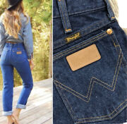 Womenandrsquos True Vintage High Waisted Wrangler Jeans Cropped 29x27 Dark