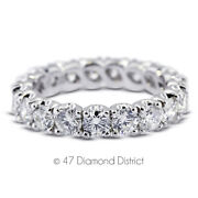 2 1/2 Ct I Si2 Round Natural Certified Diamonds 18k Gold Classic Eternity Ring