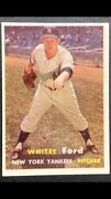 1957 Topps Whitey Ford 25 Mint Condition Only 17 9s 1 Ten New York Yankees